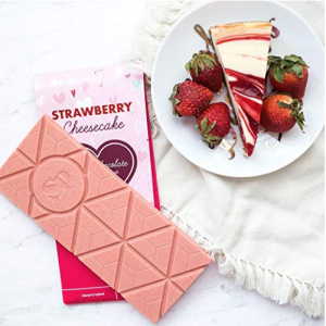 Sugar Plum White Chocolate Strawberry Cheesecake Bar