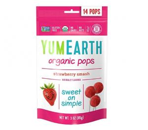 YumEarth Strawberry Lollipops