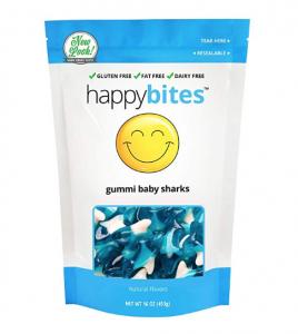 Happy Bites Gummi Sharks Blue Raspberry