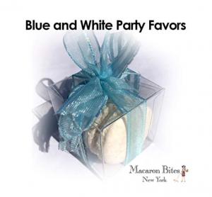 Macaron Blue & White