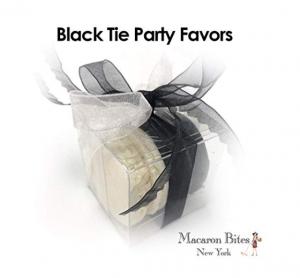 Macaron Bites Black Tie