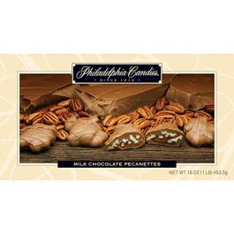 Philadelphia Candies Original Pecanettes (Caramel Pecan Turtles), Milk Chocolate 1 Pound Gift Box