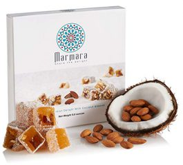 Marmara Authentic Turkish Delight with Mix Nuts / Sweet Confectionery Gourmet Gift Box Candy Dessert (Coconut Almond, Medium)