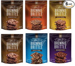 Brownie Brittle, Variety Pack, 5 Oz Bag (Pack of 6), The Unbelievably Rich and Delicious Chocolate Brownie Snack with A Cookie Crunch
