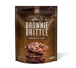 Brownie Brittle, Chocolate Chip, 5 Oz Bag (Pack of 6), The Unbelievably Delicious Chocolate Brownie Snack with A Cookie Crunch.