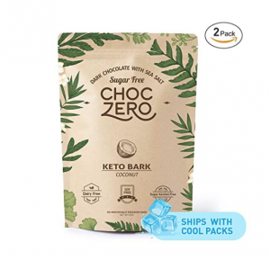 Choczero Dark Chocolate, Coconut, with Sea Salt