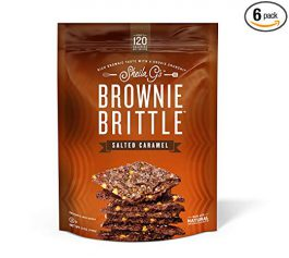 Brownie Brittle, 5 oz, Salted Caramel (120 Calories per oz), 6Count