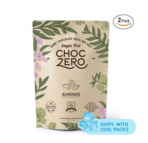ChocZero Keto Bark Dark Chocolate, Almonds, with Sea Salt