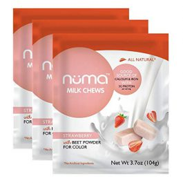 Healthy Strawberries and Cream Candy – Low Sugar, Low Calorie, All Natural Chewy Snack, 3g Protein per Serving, Gluten Free – 3 Bags
