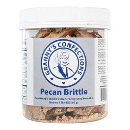 "Handmade Pecan Brittle. Grade ""A"" Pecans. Voted Best Brittle – One Pound (16 oz) Container"