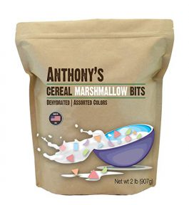 Anthony's Cereal Marshmallow Bits, 2lbs, Dehydrated, Assorted Colors & Shapes, Made in USA