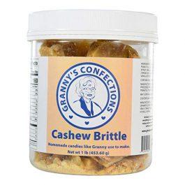 Handmade Cashew Brittle. Premium Cashews. Voted Best Brittle – One Pound (16 oz) Container