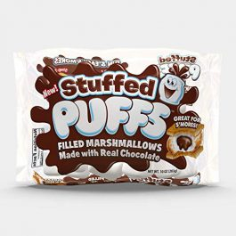 Stuffed Puffs, Chocolate Filled Marshmallows (10 oz bag, Pack of 2)  by