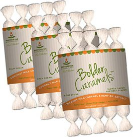 Bolder Caramels – Hemp Oil Infused Supplement – 10 mg per Piece – 3 Packs of 5 Caramels – Supports Functional Calming for Stress Relief, Relaxation, and Healthy Sleep Patterns