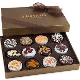 Barnett's Chocolate Cookies Gift Basket, Gourmet Christmas Holiday Corporate Food Gifts in Elegant Box
