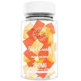Organic Hemp Infused Hard Candy, 200 mg (5mg/piece) – Made with Organic Beet Sugar – Relieve Stress, Boost Mood, Gluten Free, Non-GMO, USDA Certified Vegan 40 Candies, Peach and Pineapple