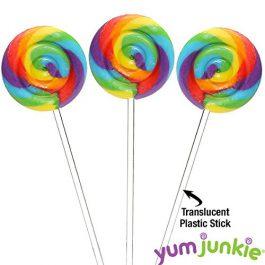 Swipple Pops Petite Swirl Ripple Lollipops – 60-Piece Tub (Rainbow)