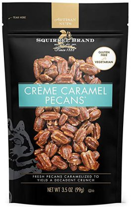 SQUIRREL BRAND Artisan Nuts Creme Caramel Pecans, 3.5 oz (Pack of 6)