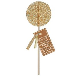 Champagne Bubbles Gourmet Cocktail Hard Candy Lollipop 100% USA Made (12 Count
