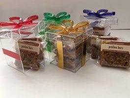 Eileen's Pralines Praline Bars Acrylic Gift Box (Gold, 3 Pack)