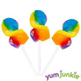 Curly Cutes Petite Crystal Ribbon Pops – 20-Piece Jar (Rainbow)
