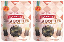 Candy People Sugar-Free Swedish Cola Gummy Candy 4 Ounce (Pack of 2) – Fat Free and Gluten Free Cola Candy Sweetened with Stevia