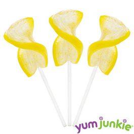 Curly Cutes Petite Crystal Ribbon Pops – 20-Piece Jar (Yellow)