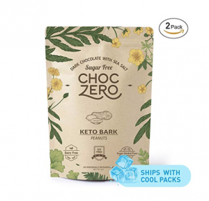 Choczero Dark Chocolate Peanuts with Sea Salt