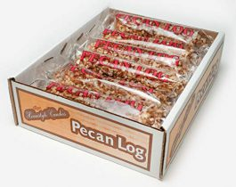 Pecan Logs Rolls – Crown Candy (12 Individually Wrapped 2.5 oz Pecan Logs Per Box)