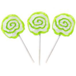 Hypno Pops Petite Swirl Lollipops – 100 Piece Bag (Green)