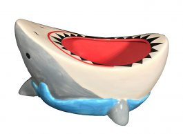 Great White Shark Bowl-Funny Shark Attack Cool Candy, Cereal, or Snack Bowl Gift by FunFamz