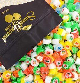 Christmas Cut Rock Hard Candy | Seasonal Bulk Unwrapped Retro Candy | 2 pounds
