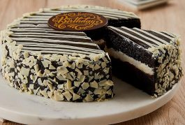 Bake Me A Wish Black and White Mousse Cake – Happy Birthday