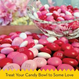 M&M'S Milk Chocolate Valentine's Day Candy Gift 13-Ounce Jar