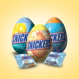 SNICKERS Easter Minis Size Chocolate Candy Eggs 0.9-Ounce 12-Count Box